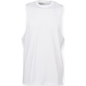 textil Herre Toppe / T-shirts uden ærmer Skinni Fit SF232 White