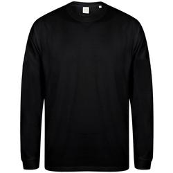textil Herre Sweatshirts Skinni Fit Slogan Black
