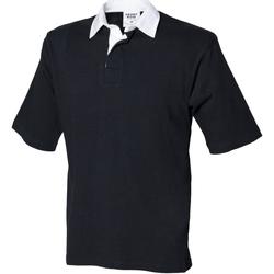 textil Herre Polo-t-shirts m. korte ærmer Front Row FR03M Black