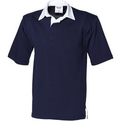 textil Herre Polo-t-shirts m. korte ærmer Front Row FR03M Navy