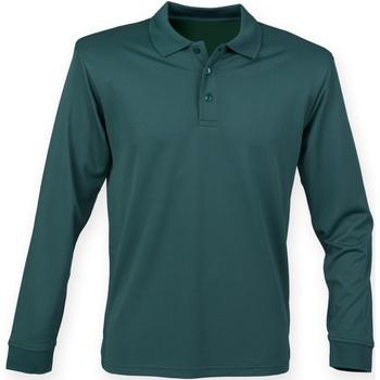 textil Herre Polo-t-shirts m. lange ærmer Henbury HB478 Bottle