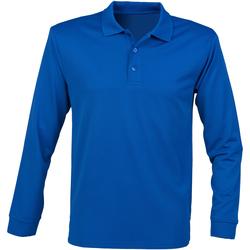 textil Herre Polo-t-shirts m. lange ærmer Henbury HB478 Royal