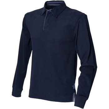 textil Herre Polo-t-shirts m. lange ærmer Front Row FR43M Navy
