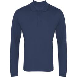 textil Herre Polo-t-shirts m. lange ærmer Premier PR617 Navy