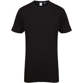 textil Herre T-shirts m. korte ærmer Skinni Fit Dipped Hem Black