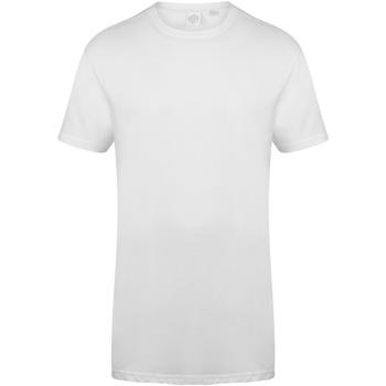 textil Herre T-shirts m. korte ærmer Skinni Fit Dipped Hem White