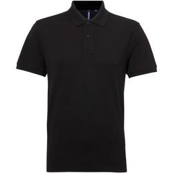textil Herre Polo-t-shirts m. korte ærmer Asquith & Fox AQ015 Black