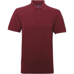 textil Herre Polo-t-shirts m. korte ærmer Asquith & Fox AQ015 Burgundy