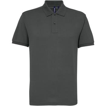 textil Herre Polo-t-shirts m. korte ærmer Asquith & Fox AQ015 Charcoal