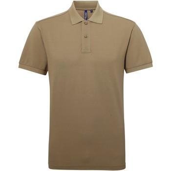 textil Herre Polo-t-shirts m. korte ærmer Asquith & Fox AQ015 Khaki