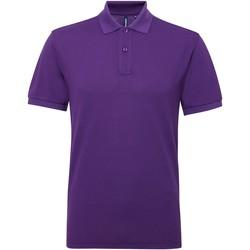 textil Herre Polo-t-shirts m. korte ærmer Asquith & Fox AQ015 Purple