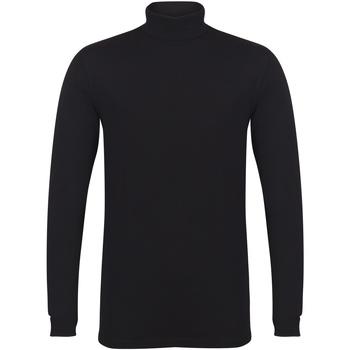 textil Herre Langærmede T-shirts Skinni Fit SF125 Black