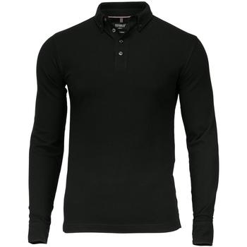 textil Herre Polo-t-shirts m. lange ærmer Nimbus NB71M Black