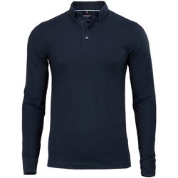 textil Herre Polo-t-shirts m. lange ærmer Nimbus NB71M Navy
