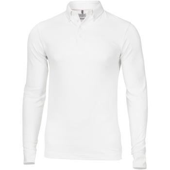 textil Herre Polo-t-shirts m. lange ærmer Nimbus NB71M White