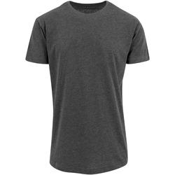 textil Herre T-shirts m. korte ærmer Build Your Brand Shaped Charcoal