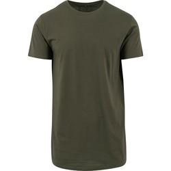 textil Herre T-shirts m. korte ærmer Build Your Brand Shaped Olive