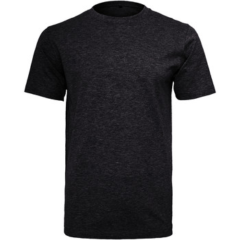 textil Herre T-shirts m. korte ærmer Build Your Brand Round Neck Black