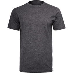 textil Herre T-shirts m. korte ærmer Build Your Brand Round Neck Charcoal