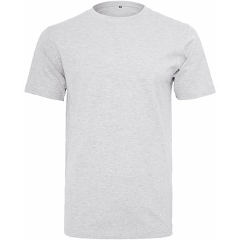 textil Herre T-shirts m. korte ærmer Build Your Brand Round Neck White