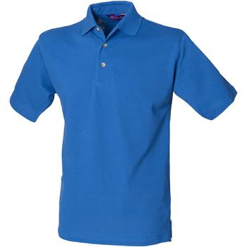 textil Herre Polo-t-shirts m. korte ærmer Henbury HB100 Royal