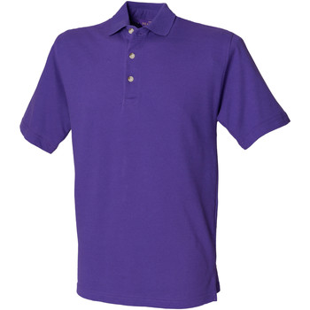 textil Herre Polo-t-shirts m. korte ærmer Henbury HB100 Purple