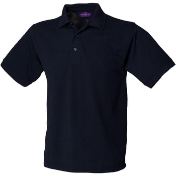textil Herre Polo-t-shirts m. korte ærmer Henbury HB400 Navy