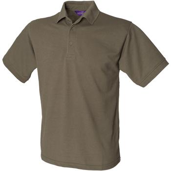 textil Herre Polo-t-shirts m. korte ærmer Henbury HB400 Olive