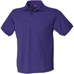 textil Herre Polo-t-shirts m. korte ærmer Henbury HB400 Purple