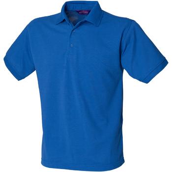 textil Herre Polo-t-shirts m. korte ærmer Henbury HB400 Royal