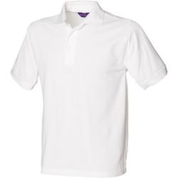 textil Herre Polo-t-shirts m. korte ærmer Henbury HB400 White