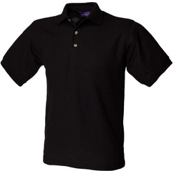 textil Herre Polo-t-shirts m. korte ærmer Henbury HB410 Black