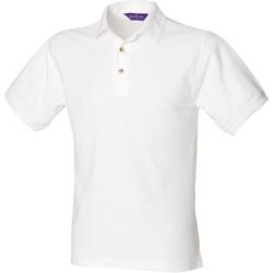 textil Herre Polo-t-shirts m. korte ærmer Henbury HB410 White