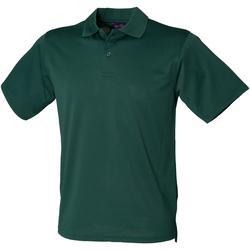 textil Herre Polo-t-shirts m. korte ærmer Henbury HB475 Bottle