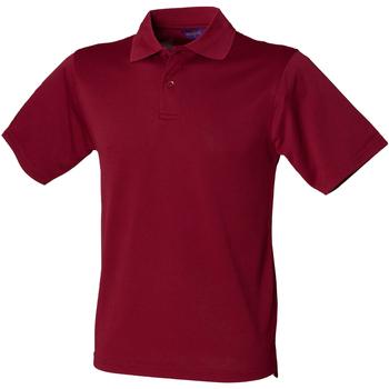 textil Herre Polo-t-shirts m. korte ærmer Henbury HB475 Burgundy