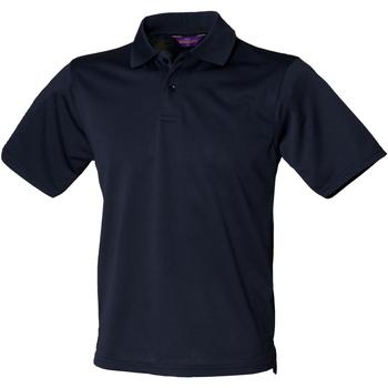 textil Herre Polo-t-shirts m. korte ærmer Henbury HB475 Navy