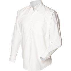 textil Herre Skjorter m. lange ærmer Henbury HB510 White