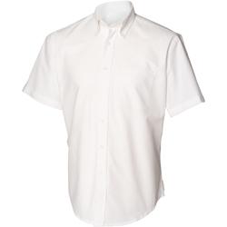 textil Herre Skjorter m. korte ærmer Henbury HB515 White