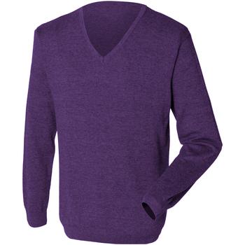 textil Herre Pullovere Henbury 12 Gauge Purple