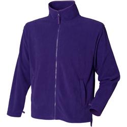 textil Herre Fleecetrøjer Henbury  Purple