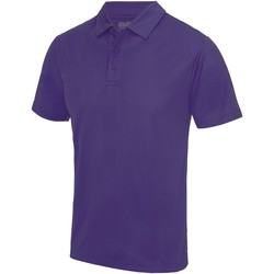 textil Herre Polo-t-shirts m. korte ærmer Awdis JC040 Purple