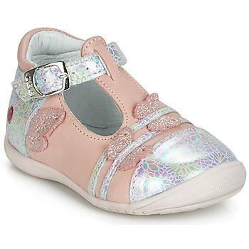 Sko Pige Ballerinaer GBB MERTONE Pink / Sølv