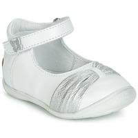 Sko Pige Ballerinaer GBB MALLA Hvid / Sølv