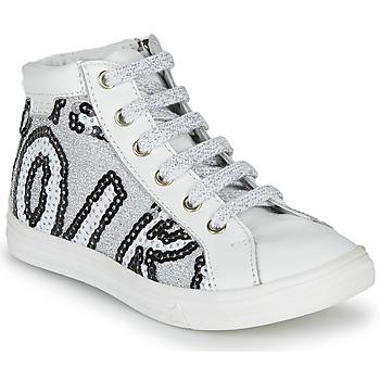 Sko Pige Høje sneakers GBB MARTA Hvid / Sølv