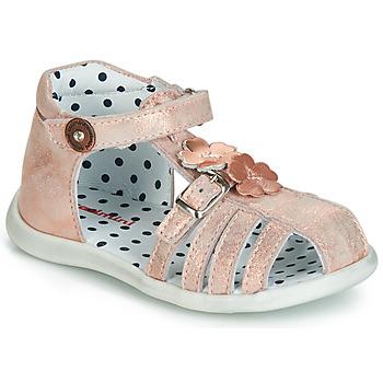Sko Pige Sandaler Catimini VANUA Pink / Guld