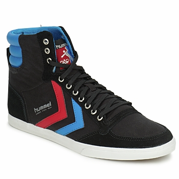 Sko Høje sneakers Hummel TEN STAR HIGH CANVAS Sort / Blå / Rød