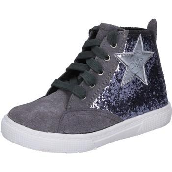 Sko Pige Høje sneakers Enrico Coveri sneakers grigio glitter camoscio BX839 Grigio