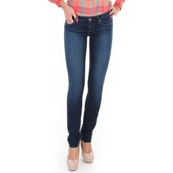 textil Dame Jeans - skinny Wrangler Jeansy  Skyline W26FX754R blue