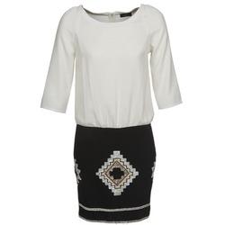 textil Dame Korte kjoler One Step RAMBOUTAN Hvid / Sort