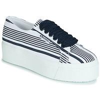 Sko Dame Lave sneakers Superga 2790 COT MULTI STRIPE W Hvid